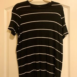 Brandy Melville Black and White Striped Shirt